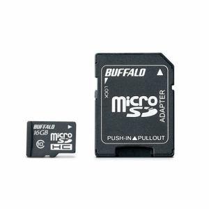 バッファロー RMSDY016U1A UHS-I Class1 microSDカード SD変換アダプター付 16GB