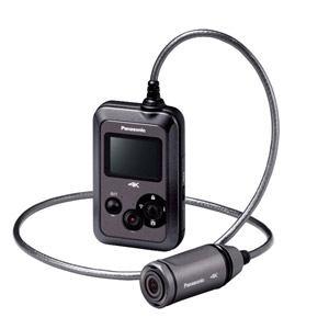 パナソニック マイクロSD対応 3.0m防水・防塵対応4Kウェアラブルカメラ (グレー) HX-A500-H