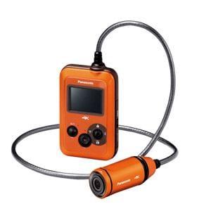 パナソニック マイクロSD対応 3.0m防水・防塵対応4Kウェアラブルカメラ (オレンジ) HX-A500-D