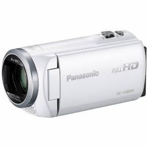 パナソニック SD対応 32GB デジタルハイビジョンビデオカメラ(ホワイト) HC-V480M-W