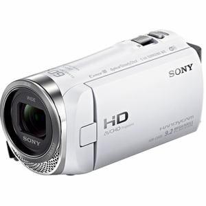 ソニー 「Handycam(ハンディカム)」 マイクロSD対応 32GB デジタルHDビデオカメラレコーダー ホワイト HDR-CX485-W