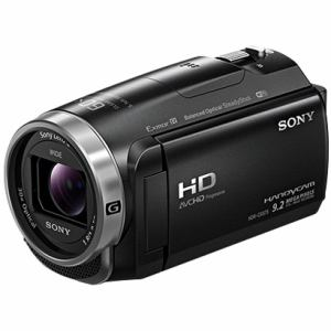 ソニー 「Handycam(ハンディカム)」 マイクロSD対応 32GB デジタルHDビデオカメラレコーダー ブラック HDR-CX675-B