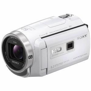 ソニー 「Handycam(ハンディカム)」 マイクロSD対応 32GB プロジェクター内蔵デジタルHDビデオカメラレコーダー ホワイト HDR-PJ675-W