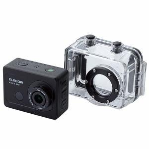 エレコム ACAM-F01SBK アクションカメラ(Full HD) アクセサリキット付属モデル ブラック【ヤマダウェブコム限定特典付き】