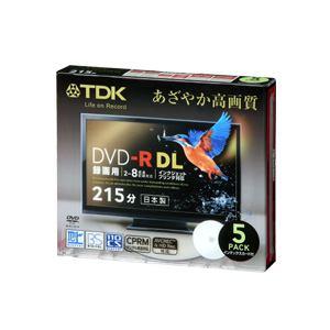 <ヤマダ> TDK 録画用DVD-R DL 8.5GB 【2-8倍速  スリムケース入り 5枚 /インクジェットプリンター対応】 DR215DPWB5S 8X画像