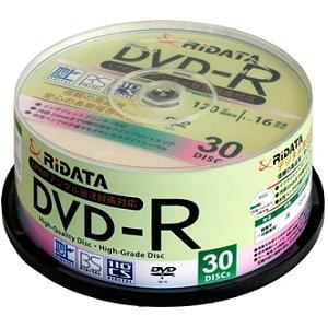 RiDATA 録画用DVD-R 30枚組 D-RCP16X.PW30RD C