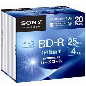 SONY ビデオ用BD-R 25GB 20枚パック 20BNR1VGPS4