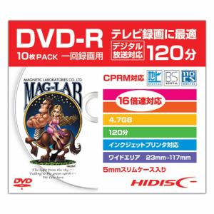 HIDISC HDDR12JCP10SC 録画用DVD-R スリムケース入り10枚パック