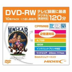 HIDISC HDDRW12NCP10SC 繰り返し録画用DVD-RW スリムケース入り10枚パック