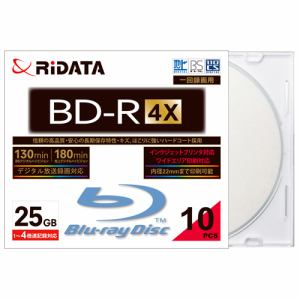 RiDATA 録画用BD-R 10枚パック (スリムケース) BDR130PW4X10PSCC