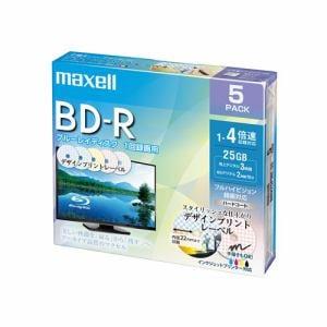 マクセル(Maxell) BEV25PME5S 録画用BD-R デザインプリントレーベルディスク 1-2倍 25GB 5枚 うす型5mmケース