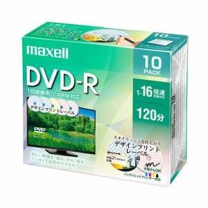マクセル(Maxell) DRD120PME10S 録画用DVD-R デザインプリントレーベルディスク 1-16倍 4.7GB 10枚 うす型5mmケース
