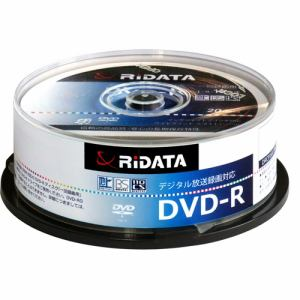 RiDATA DRCP16XPW20RDD 一回録画用DVD-R ワイドプリントレーベルディスク 1~16倍速 4.7GB 20枚スピンドルケース