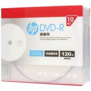 ヒューレットパッカード DR120CHPW10A 録画用DVD-R インクジェットプリンター対応ホワイトワイドレーベル CPRM対応 1-16倍速 4.7GB 10枚