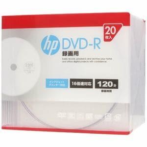 ヒューレットパッカード DR120CHPW20A 録画用DVD-R インクジェットプリンター対応ホワイトワイドレーベル CPRM対応 1-16倍速 4.7GB 20枚