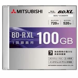 三菱ケミカルメディア VBR520YP1D1 録画用BD-RXL(片面3層)インクジェットプリンタ対応ワイドレーベル ケース付き1枚パック