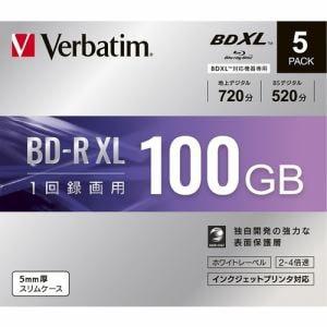 三菱ケミカルメディア VBR520YP5D1 録画用BD-RXL(片面3層)インクジェットプリンタ対応ワイドレーベル ケース付き5枚パック