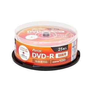 AVOX DR120CAVPW25PA DVD-R 録画用(120分) 1-16倍速 25枚 スピンドルケース