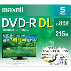 マクセル DRD215WPE5S 8倍速対応DVD-R DL 215分 5枚パック