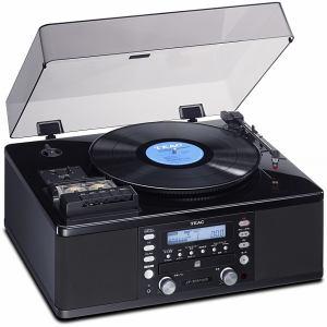 ティアック ターンテーブル/カセットプレーヤー付CDレコーダー LP-R550USB-P/PB