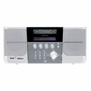 コイズミ SDD-4337-S Bluetooth搭載CD/SD/USB対応ラジオ(シルバー)