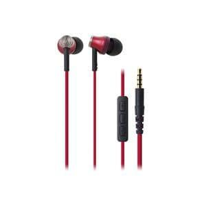 オーディオテクニカ iPod/iPhone/iPad専用インナーイヤーヘッドホン レッド ATH-CK330i-RD