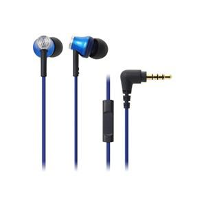 オーディオテクニカ スマートフォン用インナーイヤーヘッドホン ブルー ATH-CK330iS-BL