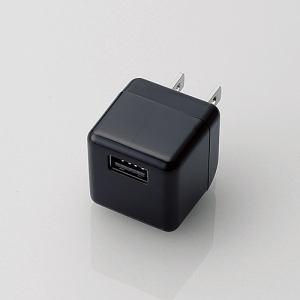 エレコム キューブ型AC充電器(DAP用・1.8A) ブラック AVA-ACUBN003BK