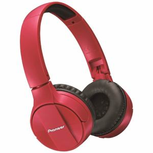 パイオニア SE-MJ553BT-R Bluetooth搭載ダイナミック密閉型ヘッドホン(レッド)