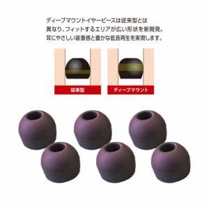 ラディウス HP-DME02K ディープマウントイヤピースM Neシリーズ Mサイズ ブラック