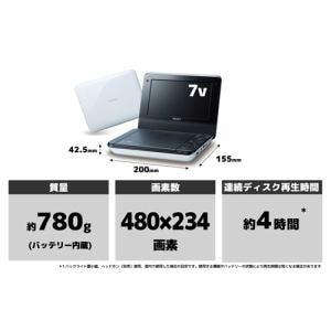 SONY ポータブルDVDプレーヤー DVP-FX780(W)
