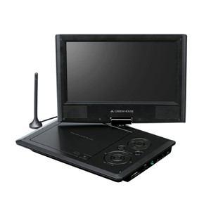 グリーンハウス 9型フルセグTV内蔵 ポータブルDVDプレーヤー GH-PDV9FT-BK