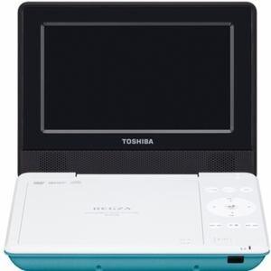 東芝 REGZA(レグザ) 7V型 CPRM対応ポータブルDVDプレーヤー グリーン SDP710S-G