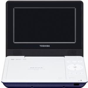 東芝 REGZA(レグザ) 7V型 CPRM対応ポータブルDVDプレーヤー ブルー SDP710S-L