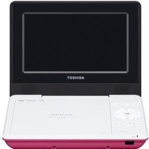東芝 REGZA(レグザ) 7V型 CPRM対応ポータブルDVDプレーヤー ピンク SDP710S-P