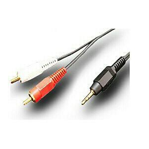 富士パーツ オーディオコードステレオミニプラグ-ピンプラグ(RCA)×21.5m FVC323A