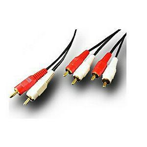 富士パーツ FVC-327 1.5mピンプラグ2分配オーディオケーブル(ピンプラグ×2⇔ピンプラグ×4)