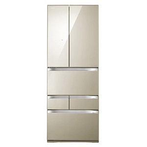 TOSHIBA 「VEGETA(ベジータ)」6ドア冷蔵庫(510L・両開き) プレミアムモデル クリアガラスタイプ クリアライトゴールド GR-G51FXV(Z