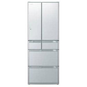 HITACHI 真空チルド FS 6ドア冷蔵庫 (517L・フレンチドア) クリスタルシルバー R-G5200D(XS)