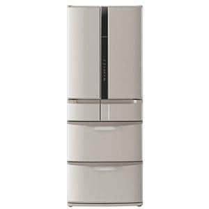 HITACHI 真空チルド FS 6ドア冷蔵庫 (517L・フレンチドア) ソフトブラウン R-F520D(T)