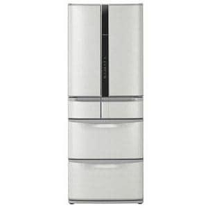 HITACHI 真空チルド FS 6ドア冷蔵庫 (517L・フレンチドア) ハイブライトステンレス R-F520D(SH)