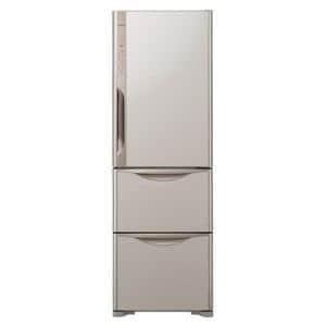 HITACHI 3ドア冷蔵庫 「真空チルド」 (365L・右開き) ライトブラウン R-K370EV-T