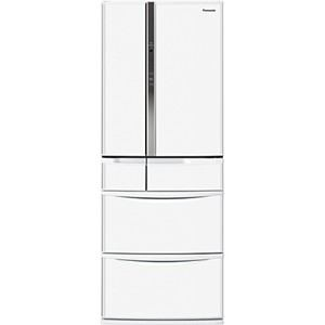 Panasonic エコナビ搭載 6ドア冷蔵庫 (455L・フレンチドア) ハーモニーホワイト NR-FTF468-W