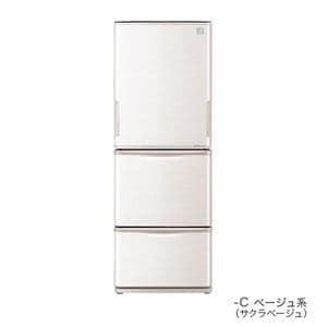 シャープ プラズマクラスター搭載 3ドア冷蔵庫 (350L・どっちもドア) ベージュ系 SJ-PW35A-C