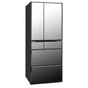 日立 6ドア冷蔵庫 「真空チルド Xシリーズ」(620L・フレンチドア) クリスタルミラー R6200E-X-X