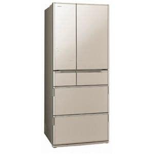 日立 6ドア冷蔵庫 「真空チルド Xシリーズ」(620L・フレンチドア) クリスタルシャンパン R-X6200E-XN