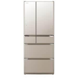 日立 6ドア冷蔵庫 「真空チルド Gシリーズ」(620L・フレンチドア) クリスタルシャンパン R-G6200E-XN