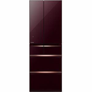 三菱 MR-WX53Z-BR 6ドア冷蔵庫 「置けるスマート大容量 WXシリーズ」(517L・フレンチドア) クリスタルブラウン