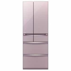 三菱 MR-WX61Z-P 6ドア冷蔵庫 「置けるスマート大容量 WXシリーズ」(600L・フレンチドア) クリスタルロゼ