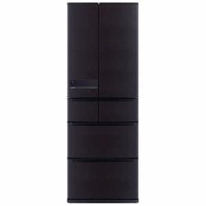 三菱 MR-JX53Z-RW 6ドア冷蔵庫 「置けるスマート大容量 JXシリーズ」 (517L・フレンチドア) ロイヤルウッド